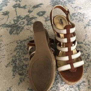 Mossimo Supply Co. Shoes - White and Tan Wedges
